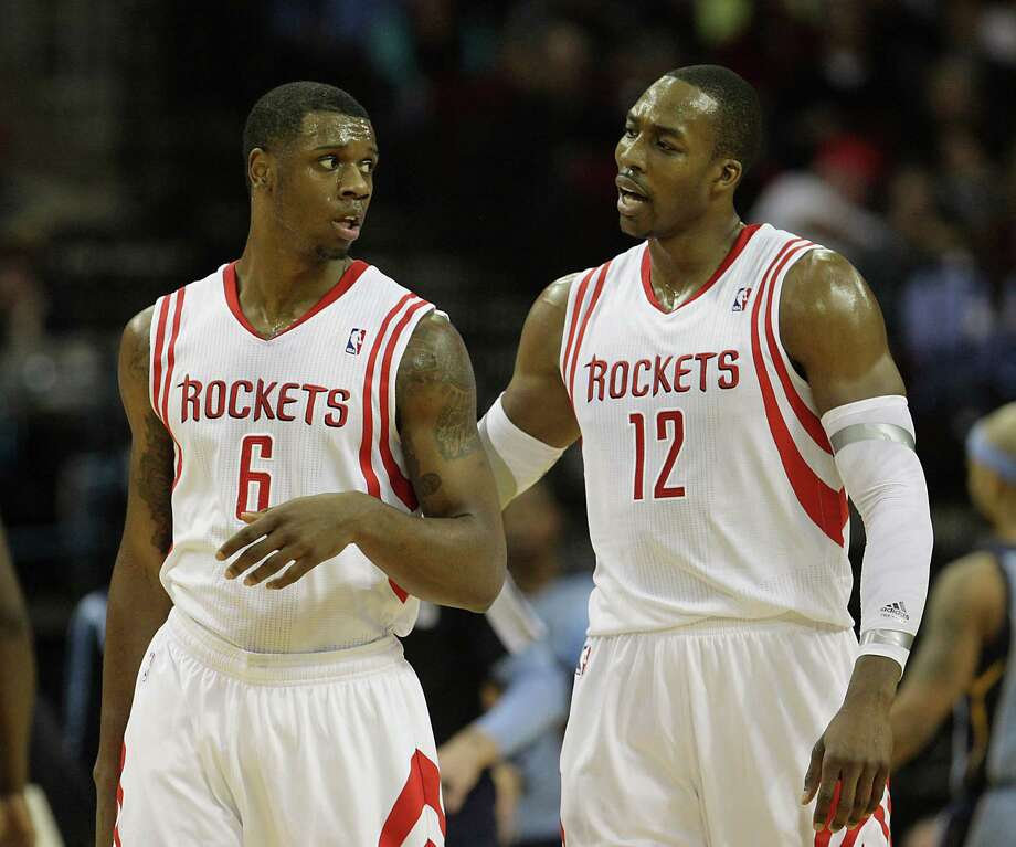 Terrence Jones, left, has become a fixture at power forward, rewarding the Rockets of late by producing 41 points and 19 rebounds over the last two games. Photo: James Nielsen, Staff / © 2013  Houston Chronicle