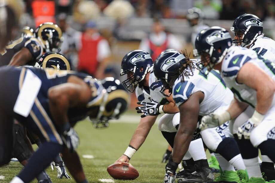 """But first ... the last time they met:Oct. 28, 2013 — Seahawks 14, at Rams 9The Rams probably should have won this game. Playing on """"Monday Night Football"""" after an extended break, the Seahawks were able to survive a defensive battle for the ages. Somehow, Seattle pulled out the 14-9 victory despite being outplayed in just about every category. St. Louis held the Seahawks to just 44 rushing and 91 passing yards (135 total) while the Rams tallied 200 rushing and 139 passing yards. Seattle quarterback Russell Wilson was sacked a whopping seven times, and Seattle surrendered 83 yards on penalties. Running back Marshawn Lynch had just 23 yards on eight carries, and receiver Golden Tate gained the vast majority of Seattle's yardage on a single touchdown catch.The game came down to a goal-line stand. Up 14-9 and having allowed the Rams to charge down the field as time ticked away, the Seahawks defense found itself in a bad position as the Rams threatened with first-and-goal at the 6-yard line. Yet somehow, even giving St. Louis an extra play on a penalty, the Seahawks stopped the Rams one yard short of the end zone. Rams quarterback Kellen Clemens threw an incomplete pass as time expired and Seattle escaped with the hard-fought victory. Though the Seahawks were struggling without their two starting tackles (Russell Okung and Breno Giacomini), and had a middle linebacker still recovering from an ankle sprain (Bobby Wagner), the game exposed some big weaknesses in this Seattle team -- weaknesses opponents like Arizona have been exploiting. We'll get to that in a moment. Photo: Michael Thomas, Getty Images"""
