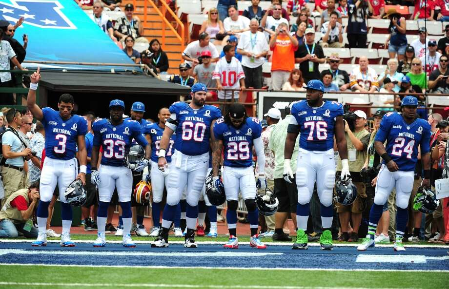 Seahawks on the 2014 Pro Bowl roster  The NFL on Friday evening announced its Pro Bowl roster for 2014, and as one of the NFL's best teams, the Seattle Seahawks have six representatives on the all-star squad. Just two Seattle teams (1984 and 2005) have fielded more Pro Bowlers (seven each). Click through the gallery to meet all six of this year's honorees.  Statistics do not include Seattle's final regular-season game. Photo: Scott Cunningham, Getty Images