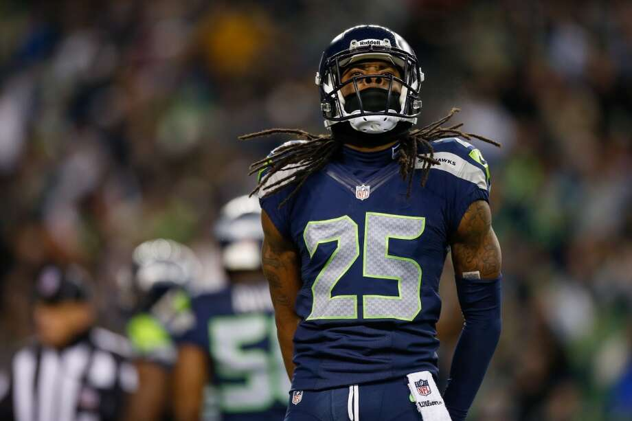 Richard Sherman — cornerbackWidely considered a favorite for Defensive Player of the Year, Richard Sherman was a no-brainer for the 2014 Pro Bowl. He leads the NFL in interceptions with eight this season, including one pick-six, and has also defended 15 passes in addition to his 47 tackles. Photo: Otto Greule Jr, Getty Images