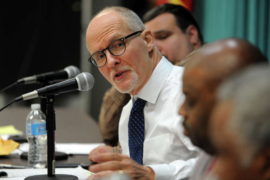 Superintendent of Schools Paul Vallas speaks during a Board of Education meeting, in Bridgeport, Conn., Nov. 12, 2013. Vallas has announced that he will leave his post to run for lieutenant goverrnor in Illinois. Photo: Ned Gerard / Connecticut Post