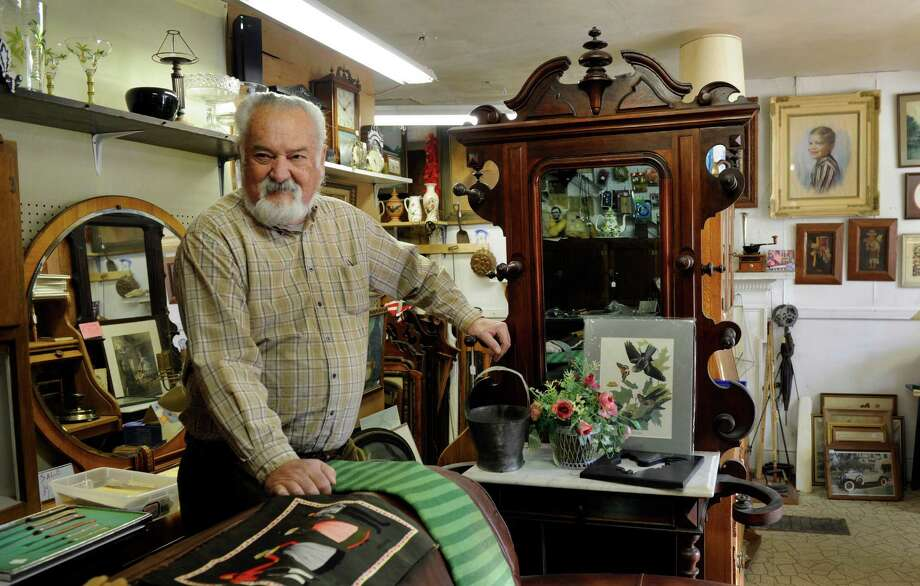 Hank Anderson, 76, of New Milford, Conn., owns Hank's Used Furniture at 266 Kent Road in New Milford. He is photographed in his store Saturday, Dec. 28, 2013. Photo: Carol Kaliff / The News-Times