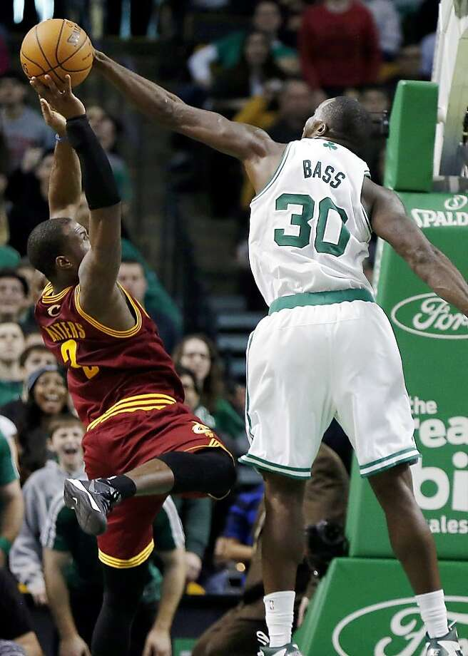 Brandon Bass saves the day with a last-seconds block of Dion Waiters. Photo: Michael Dwyer, Associated Press