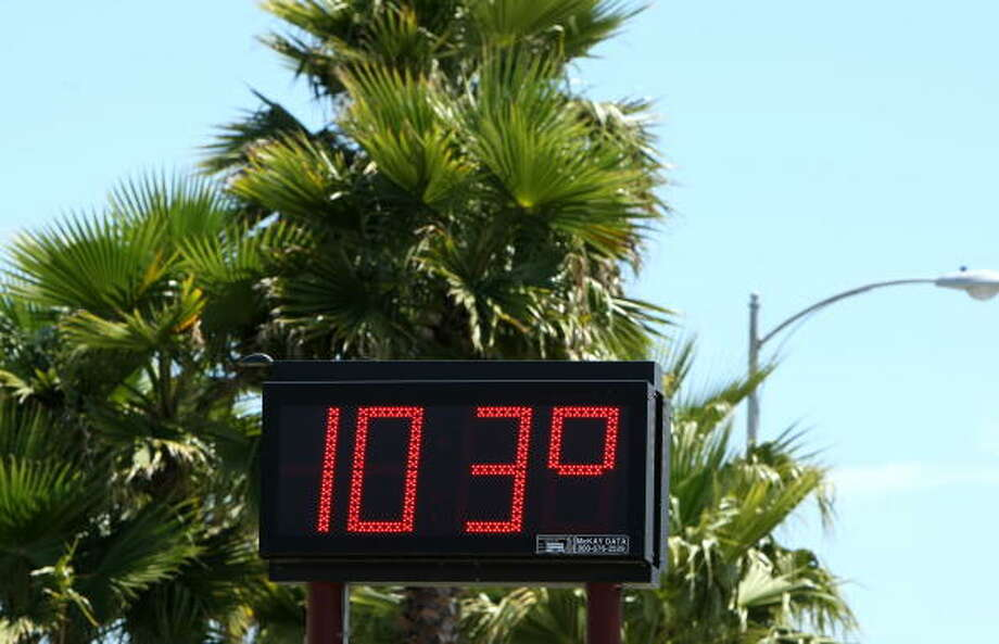 D. Hottest month for Connecticut in recorded history Photo: Justin Sullivan, Andrew Merrill / 2008 Getty Images