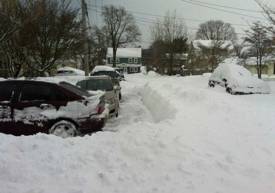 A. 35 inches Photo: Michael Juliano, Andrew Merrill / Fairfield Citizen contributed