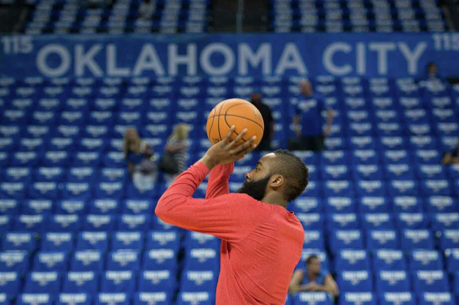 Rockets guard James Harden says returning to Oklahoma City, where he played for three seasons, is always special. Photo: Smiley N. Pool, Staff / © 2013  Houston Chronicle