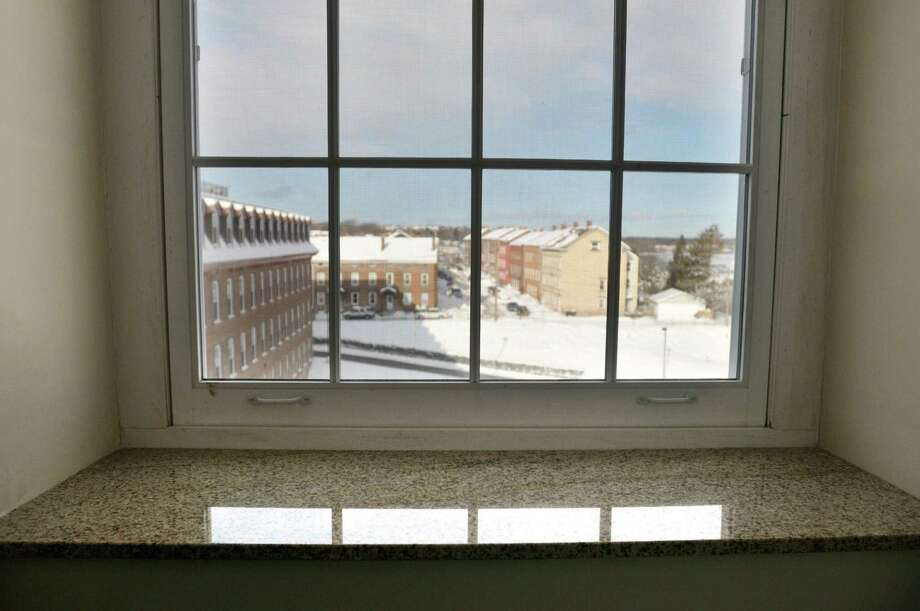 A view of granite window sills in one of the units  at The Lofts at Harmony Mills seen here on Monday, Dec. 16, 2013 in Cohoes, NY.  (Paul Buckowski / Times Union) Photo: PAUL BUCKOWSKI / 00025038A