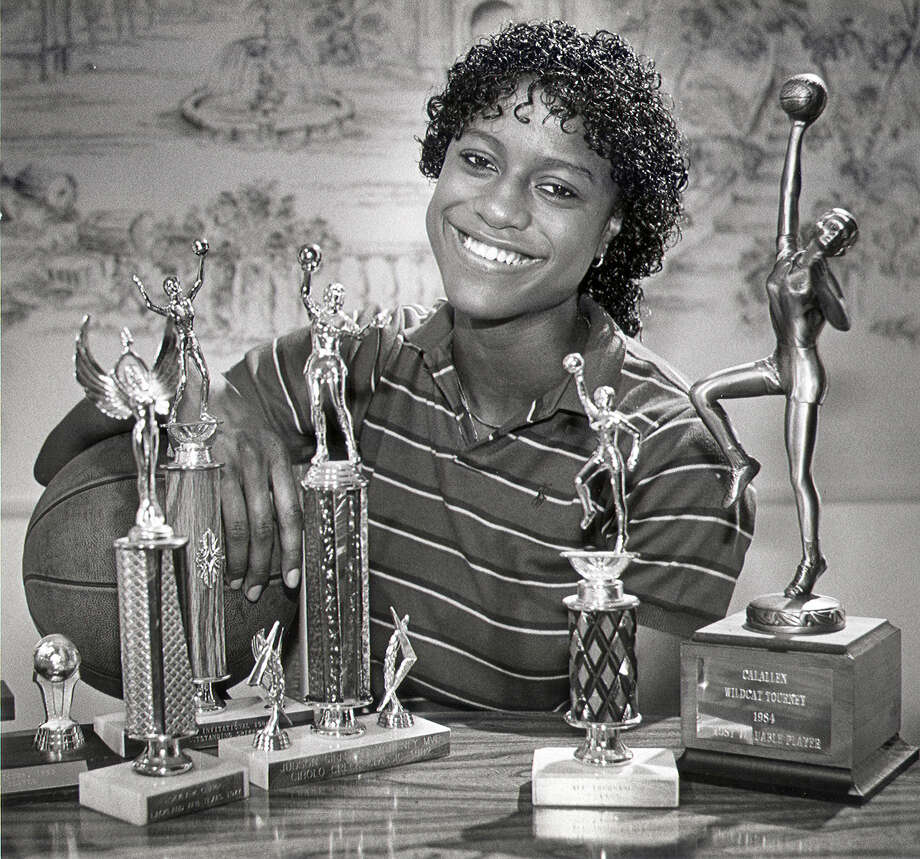 The John Jay High School basketball star set the career city  scoring record in 1985 with 2,759 points. The record stood until 2009 when it was topped by Steele guard Meighan Simmons. Davis also set the city single-game record with 75 points against Edgewood. Photo: BOB OWEN, San Antonio Express-News / SAN ANTONIO EXPRESS-NEWS