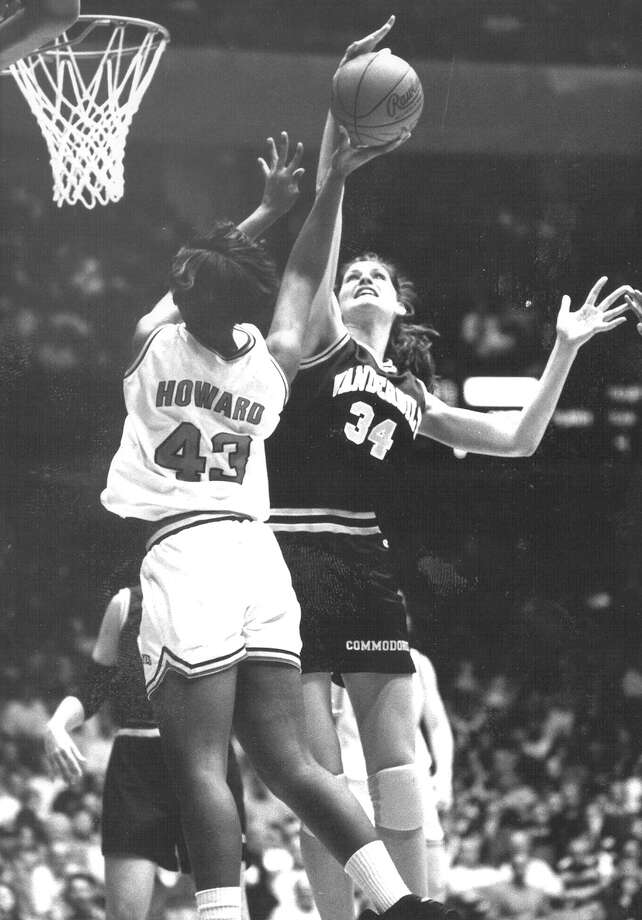 The 6-foot-10 native of Floresville and 1990 graduate of Poth High School led the Vanderbilt University women's basketball team to the Final Four in 1993. She was also named to first-team All-America. Photo: Glenn W. Gregory / For The San Antonio Express-News