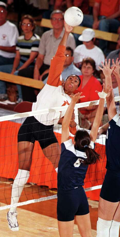 Sance ended her college career at the University of Texas as the eighth four-time All-American in NCAA volleyball history. She owns the Longhorns' career records for kills, attacks and digs. Photo: Courtesy Photo / University Of Texas At Austin