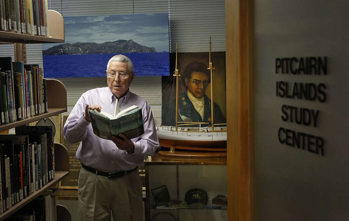 Herb Ford, at the Pitcairn Islands Study Center which houses an extensive collection of books on the HMS Bounty, on the campus of Pacific Union College on Wednesday Dec. 18, 2013, in Angwin, Ca. The center is considered to have the world's biggest and best archive on the mutiny on the bounty story of 1789 and was founded by Herb Ford, 84, a former teacher at the college.