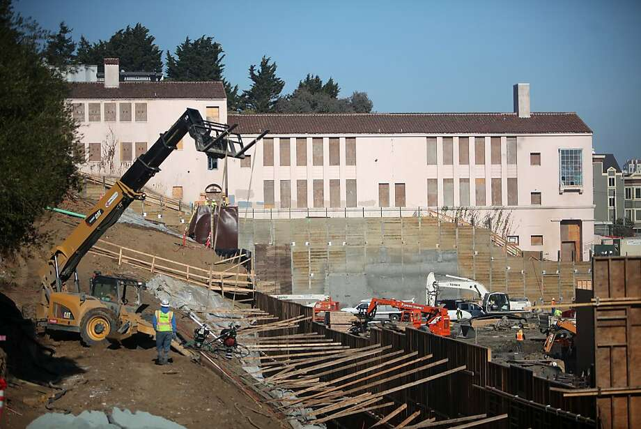 The UC Extension construction site, which is being renovated and reshaped,  is seen under construction on Monday, December 23, 2013  in San Francisco, Calif. Photo: Lea Suzuki, The Chronicle