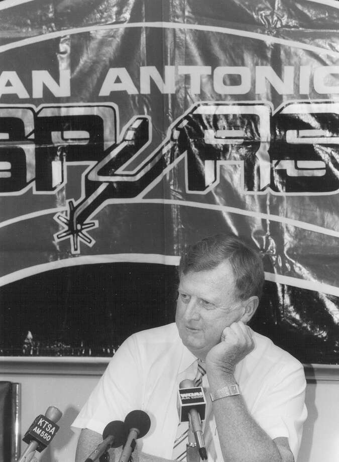 Businessman McCombs — seen here in 1990 —  bought Angelo Drossos' interest in the San Antonio Spurs in 1988. Photo: San Antonio Express-News