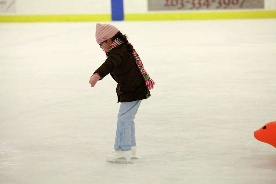 Catarina Barroso, 7, of Fairfield, skates at the Wonderland of Ice in Bridgeport, Conn. on Sunday, Dec. 29, 2013. Photo: BK Angeletti, B.K. Angeletti / Connecticut Post freelance B.K. Angeletti