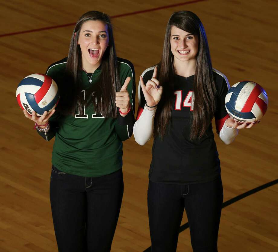 Portrait of All-Area Super Team co-players of the year, Ashlie Reasor (left) from Reagan and Abby Buckingham from Churchill Thursday Dec. 12, 2013. Photo: Edward A. Ornelas, San Antonio Express-News / © 2013 San Antonio Express-News