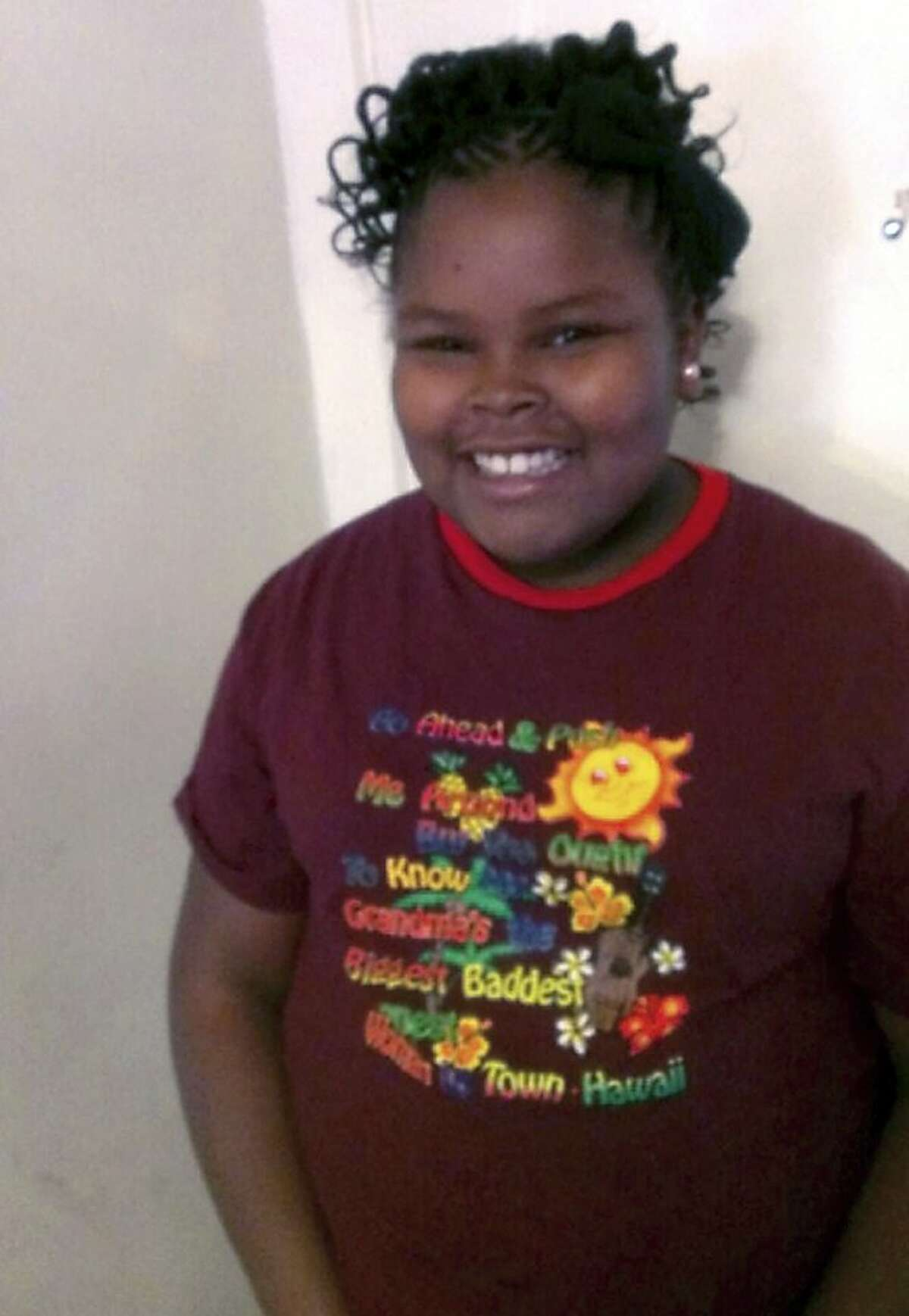 This file photo provided by the McMath family and Omari Sealey shows Jahi McMath. McMath remains on life support after doctors declared her brain dead, following a supposedly routine tonsillectomy.
