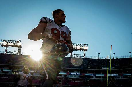 Defensive end J.J. Watt, leaving Nashville's LP Field on Sunday, hopes sunnier days are ahead for a team that failed to win after Week 2 and finished an NFL-worst 2-14.