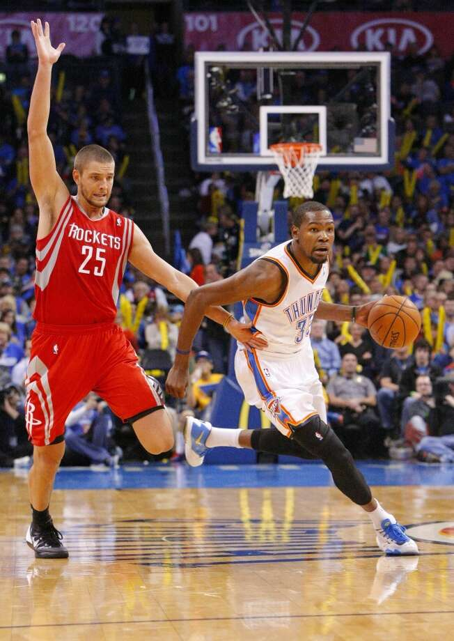 Dec. 29: Thunder 117, Rockets 86  A tired Houston squad was no match for the well-rested Thunder in OKC on Sunday as the Rockets were held scoreless until halfway through the first quarter.  Record: 21-12 Photo: Alonzo Adams, Associated Press