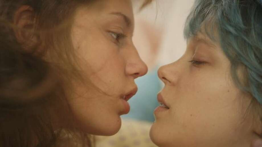 Best love scene -- Adele Exarchopoulos and Lea Seydoux in BLUE IS THE WARMEST COLOR.
