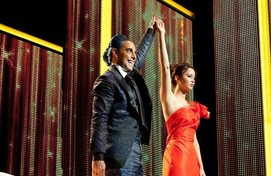 Best actor in a small part -- Stanley Tucci in THE HUNGER GAMES: CATCHING FIRE.