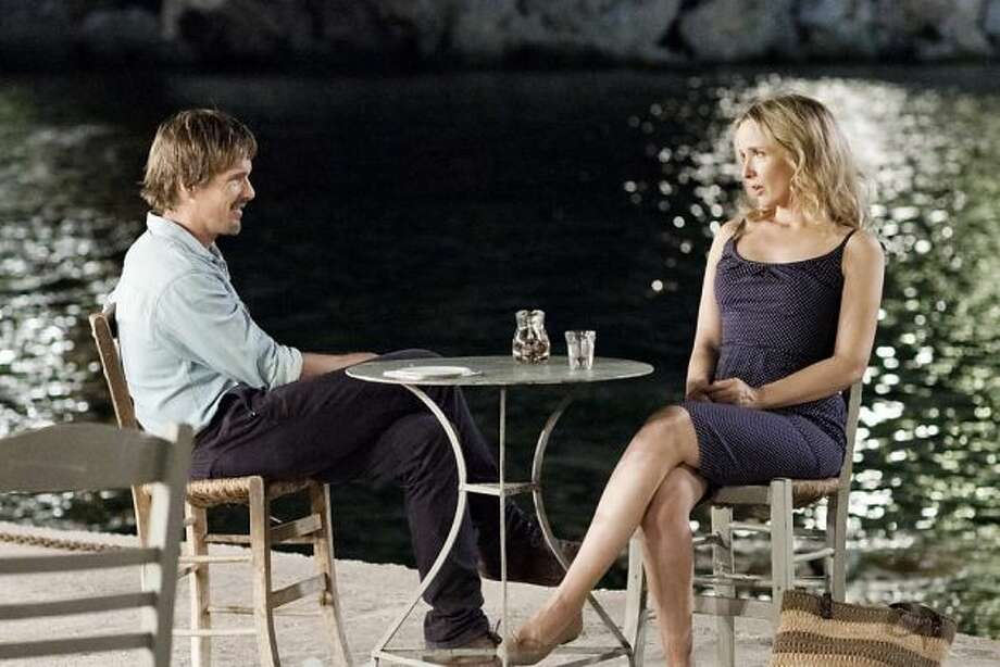 Best Love Scene -- Julie Delpy and Ethan Hawke in BEFORE MIDNIGHT.
