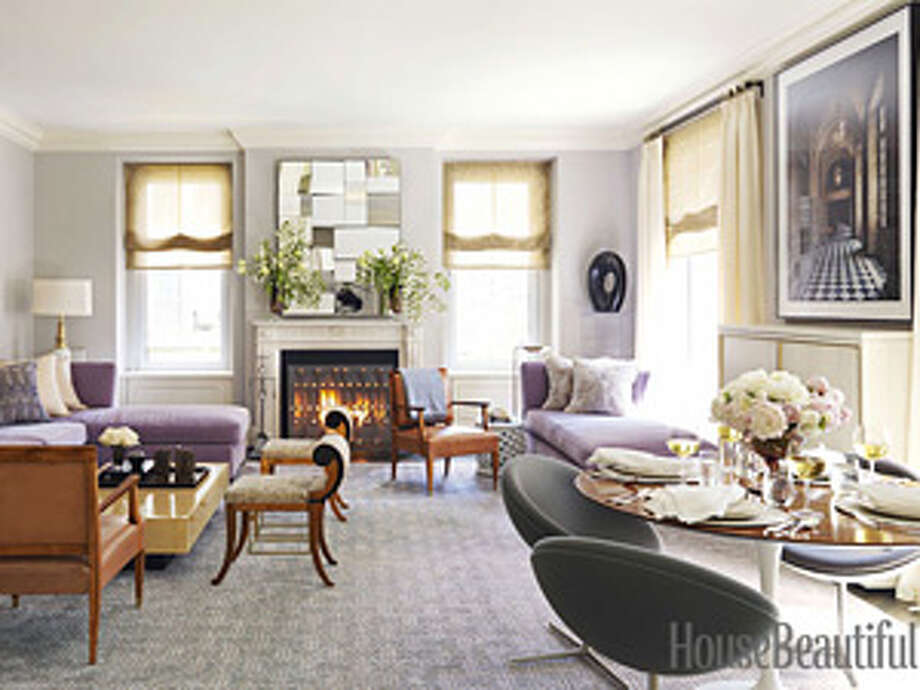 "Mix It Up""The most interesting rooms mix cultures and periods,"" says real estate broker Royce Pinkwater. ""I like to juxtapose high and low. It makes it more casual and homey."" Collaborating with the designer Eric Cohler, she decorated the living room of her New York apartment with a 1930s coffee table by Jean Dunand, '40s armchairs by Andre Arbus, '50s Swedish slipper chairs, and a '70s mirror by Neal Small. Photo: Thomas Loof"