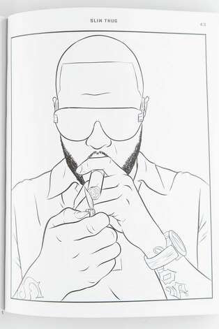 "Houston Rapper Bun B lends his name, knowledge and his face to ""Bun B's Rap Coloring and Activity Book, "" drawn by Shea Serrano, photographed in the Houston Chronicle Photo Studio , Thursday, Aug. 29, 2013, in Houston. The 48 page book of drawings features rappers Bun B, Queen Latifah, Ice-T, Common, Ludacris, LL COOL J, Questlove, and others. ( Michael Paulsen / Houston Chronicle ) Photo: CHRON, Staff / © 2013 Houston Chronicle"