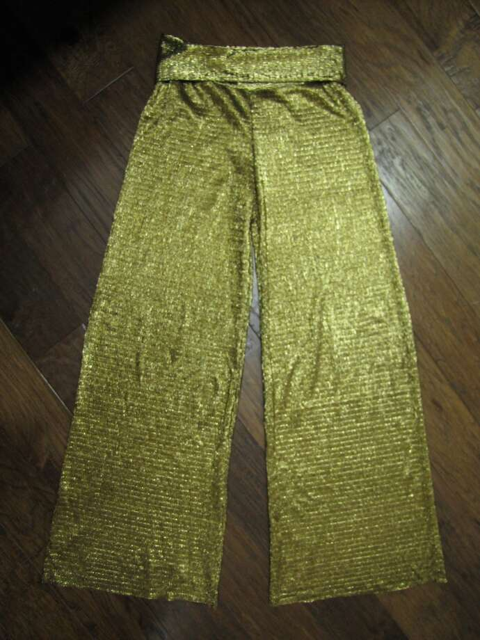 Metallic wide-leg pants, $42, YaYa Club, Beaumont Photo: Cat5