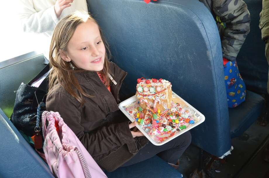 Sage Thompson's fourth grade class made gingerbread houses. Photo: Ashley Bellinger