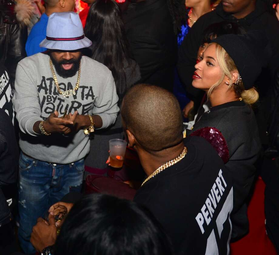 Jermaine Dupri and Beyonce attend a party at Reign Nightclub on December 27, 2013 in Atlanta, Georgia. Photo: Prince Williams, FilmMagic