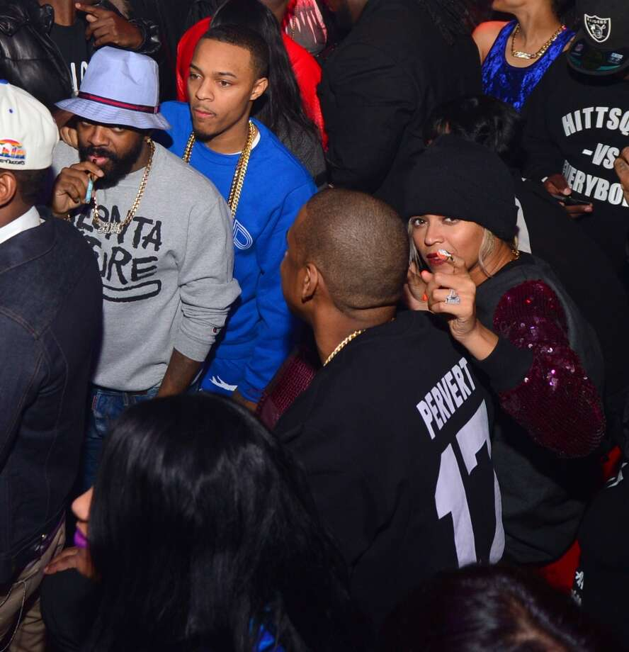 Jermaine Dupri, Bow Wow, Jay-Z and Beyonce attend a party at Reign Nightclub on December 27, 2013 in Atlanta, Georgia. Photo: Prince Williams, FilmMagic