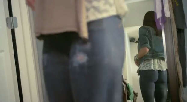 """March 20: American Eagle Outfitters creates a viral frenzy when it introduces its new Skinny Skinny jeans in a video that suggests that the denim line comes from a spray can. As you might guess, these """"one size fits all"""" jeans are just a joke, and executives from the company appear on the """"Today"""" show to clear up the confusion. (learn more about the prank here.) Photo: Screengrab Via YouTube"""