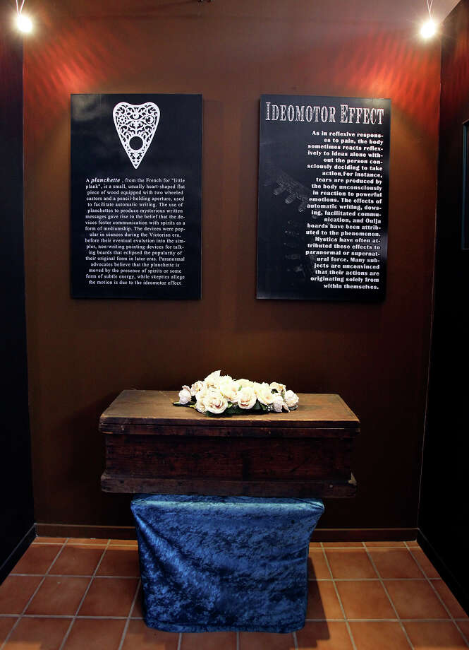 Gordon Wiseman's Ouija board museum displays examples from different eras and manufacturers. Photo: Tom Reel, San Antonio Express-News / San Antonio Express-News