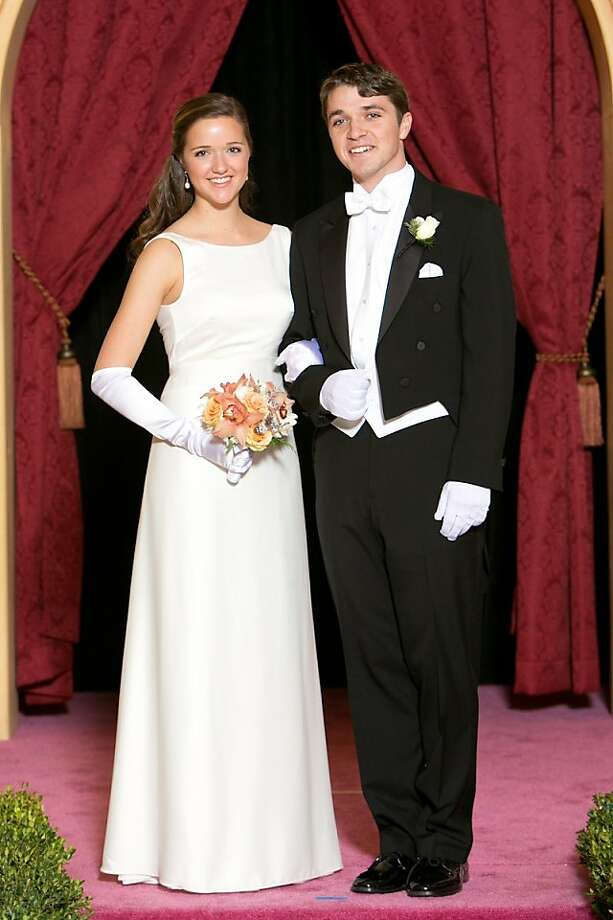 Jennifer Callan and her escort, Bradley Callander. Photo: Catherine Bigelow, Special To The Chronicle
