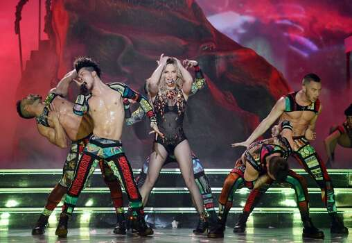 Now Britney is a permanent fixture in Las Vegas, with a re-occurring show, 'Britney: Piece of Me,' on the playbill at Planet Hollywood Resort & Casino. Photo: Denise Truscello, Associated Press
