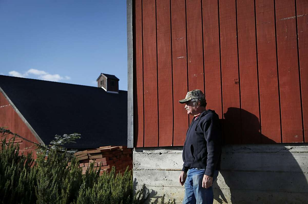 Ellis Bassetti's family has farmed this land for 100 years and now he and his wife make wreaths and other hand-crafted items to help support the vineyard.