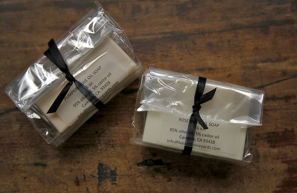 Susan Bassetti also makes olive-oil soap (above) and sauces, jellies and more from estate-grown produce.
