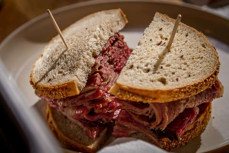 A Pastrami sandwich at Wise Sons Deli in the Contemporary Jewish Museum in San Francisco, Calif., is seen on December 27th, 2013. Photo: John Storey, Special To The Chronicle