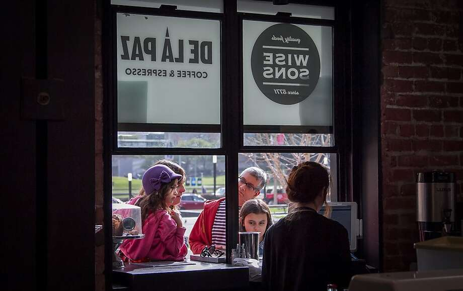 "People order food at the ""To Go"" window at Wise Sons Deli in the Contemporary Jewish Museum in San Francisco, Calif., on December 27th, 2013. Photo: John Storey, Special To The Chronicle"