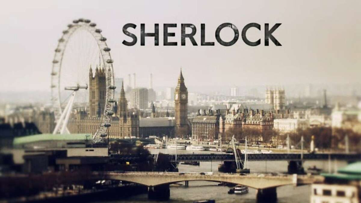 """The title screen of the PBS show """"Sherlock."""""""