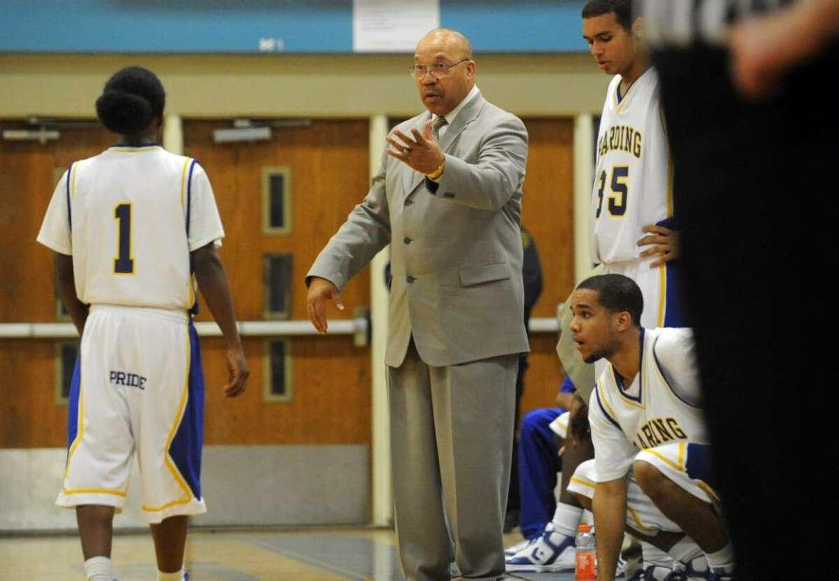 Harding hosts Ridgefield in basketball action in Bridgeport on Tuesday Feb. 02, 2010.