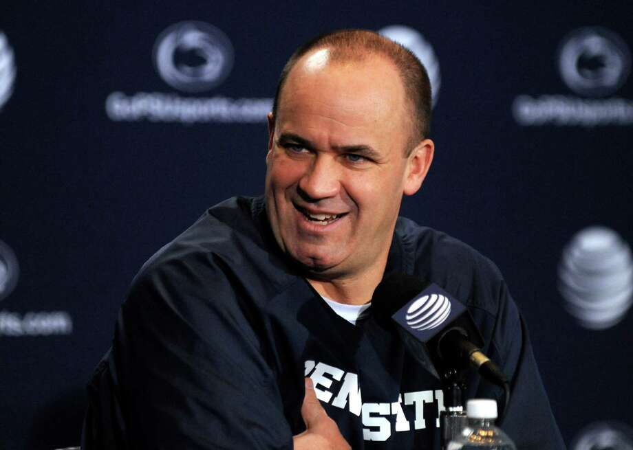 Coach Bill O'Brien speaks during the Penn State football weekly press conference, Tuesday, Nov. 26, 2013, in University Park, Pa.  Penn State plays Wisconsin this Saturday in the last game of the season.(AP Photo/Centre Daily Times, Nabil K. Mark) MANDATORY CREDIT; MAGS OUT Photo: Nabil K. Mark, MBI / Centre Daily Times