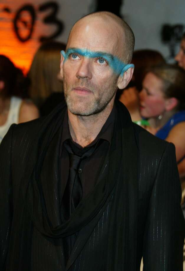 Michael Stipe (REM) doesn't worry about playing it natural when it comes to shadow. Photo: Tony Barson Archive, WireImage