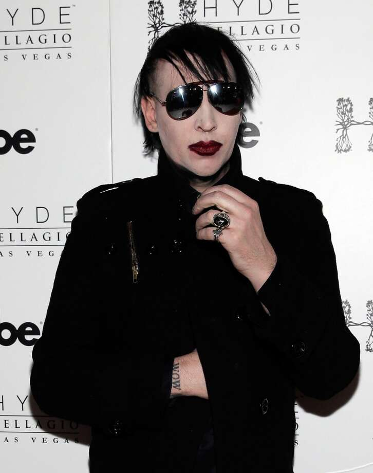 Whoever said a man can't confidently rock a bold lip wasn't Marilyn Manson. Photo: Isaac Brekken, WireImage