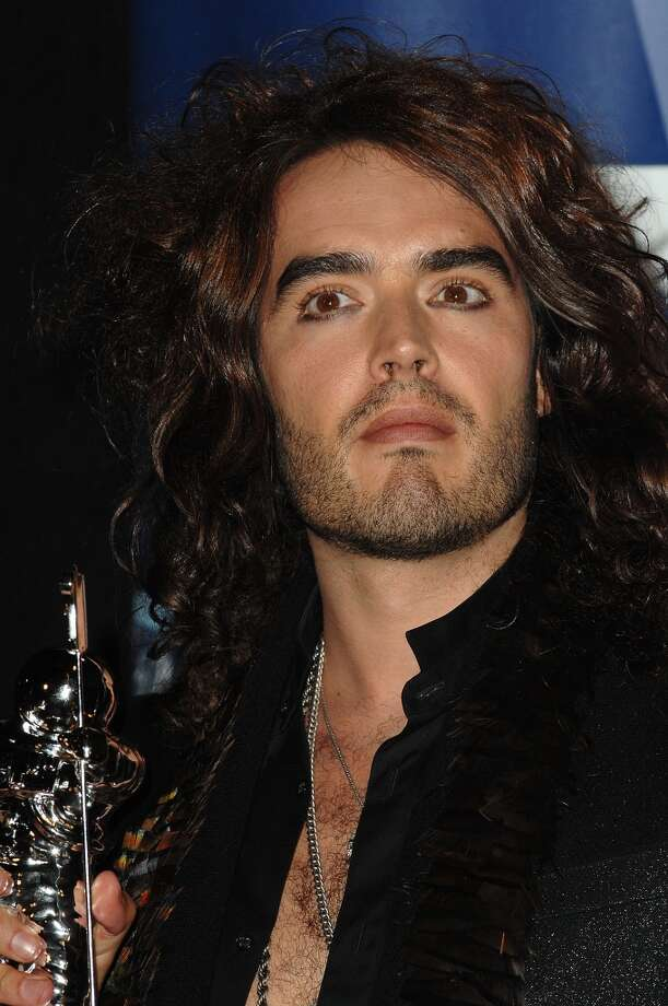 Nice use of brow gel, Russell Brand! Photo: Steve Granitz, WireImage