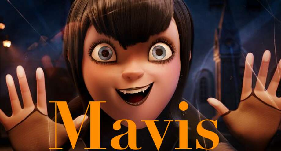Listed below are some of the strangest baby names of the year. Keep clicking to which unique names were actually popular this year. Mavis is suddenly hot, on the heels of her sleek cousin Maeve, thanks to the adorable vampire heroine (pictured) of 'Hotel Transylvania,' voiced by Selena Gomez. As with Finn, many parents mistakenly think Maeve is a diminutive that demands a more formal long form, which is another explanation for Mavis's sudden 250 percent rise. Mavis is French for songbird and also derives from the Welsh word for strawberries. Photo: Sony Pictures