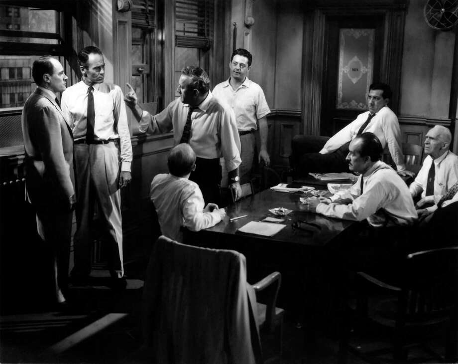 "The Reginald Rose story ""12 Angry Men"" began as a live television show and then became the classic 1957 film starring Henry Fonda (above). A modern, mixed gender version of the script, ""12 Angry Jurors,"" is being presented at the Warner Theatre in Torrington on Saturday, Jan. 11 and Sunday, Jan. 12. Photo: Contributed Photo / Connecticut Post Contributed"