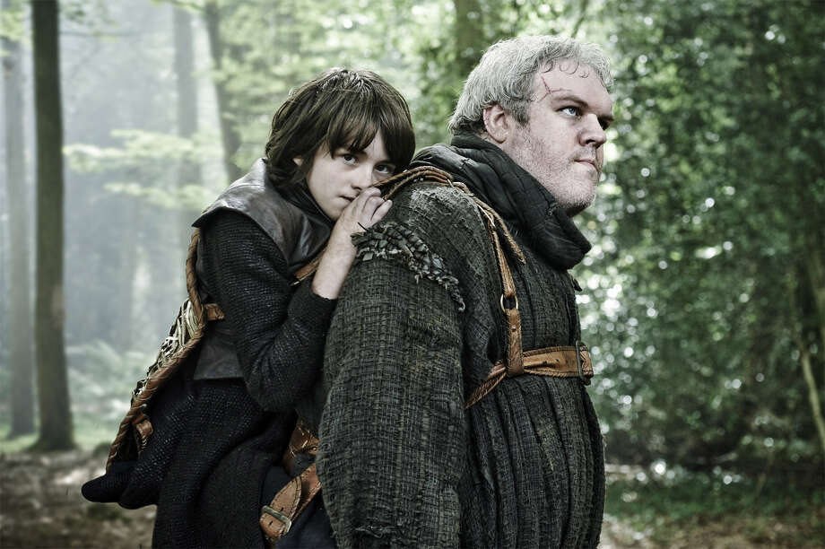 "Kristian Nairn, right, stars as Hodor on HBO's ""Game of Thrones."" In the series, Hodor serves Bran Stark, who is played by Isaac Hempstead Wright. Photo: HBO"