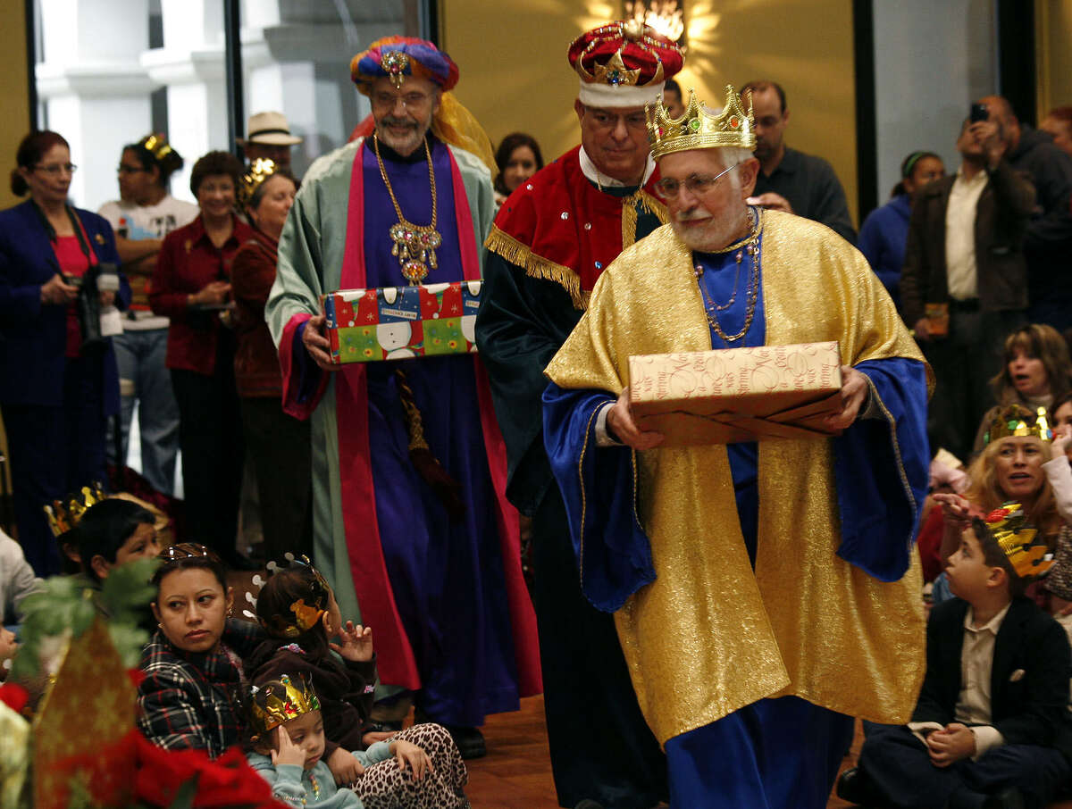 The Three Wise Men bear gifts for the baby Jesus in the annual Día de los Reyes Magos presented by the Puerto Rican Heritage Society. The event will be Jan. 5 at AT&T Community Centre at San Fernando Cathedral.