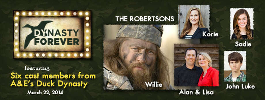 Six members of the Duck Dynasty family will be at the event in March which being held at Champion Forest Baptist Church.